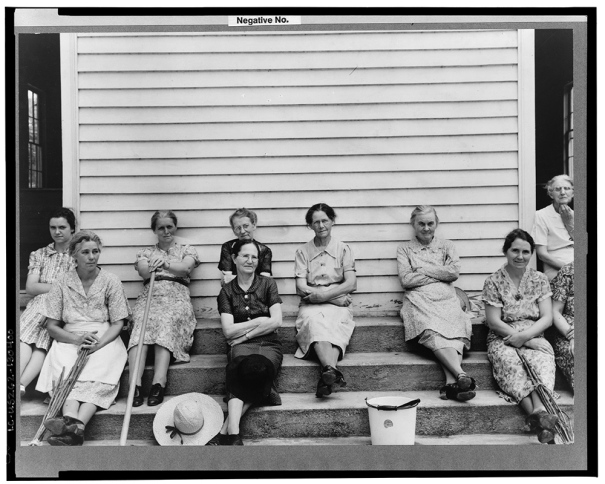 Women assembled at Wheeley's Church near Gordonton, North Carolina, to clean up church and grounds on annual cleaning up day. 1939 Library of Congress Prints and Photographs Division, Reproduction # LC-USF34-020020-C  http://www.loc.gov/pictures/item/fsa2000003551/PP/
