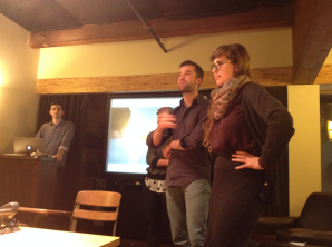 The Melo team and DFA advisor Sami Nerenberg presented their project at Second Story.
