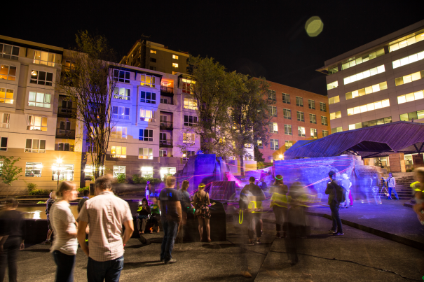 Second Story's installation at Lovejoy Fountain for Design Week Portland